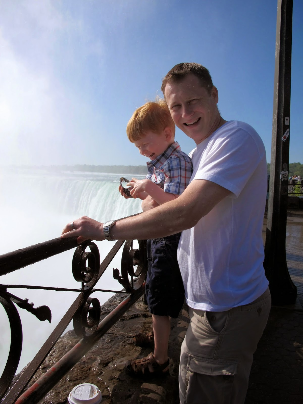 Daddy & Porter at Niagara Falls