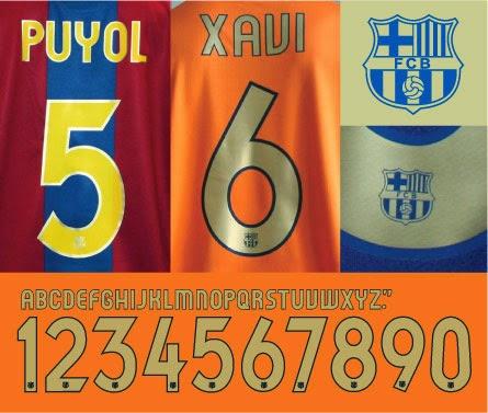 FC Barcelona 2006/08 Kits font
