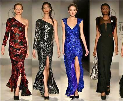 JM Couture, Jim Mullin collection designs, New York fashion week best looks, fashion blogger reviews, runway reviews fashion week, NYFW 2015, fall and winter 2015 gowns trends, rec carpet gowns JM, sequin floor length dress, dress with high slit, black classic floor length gown