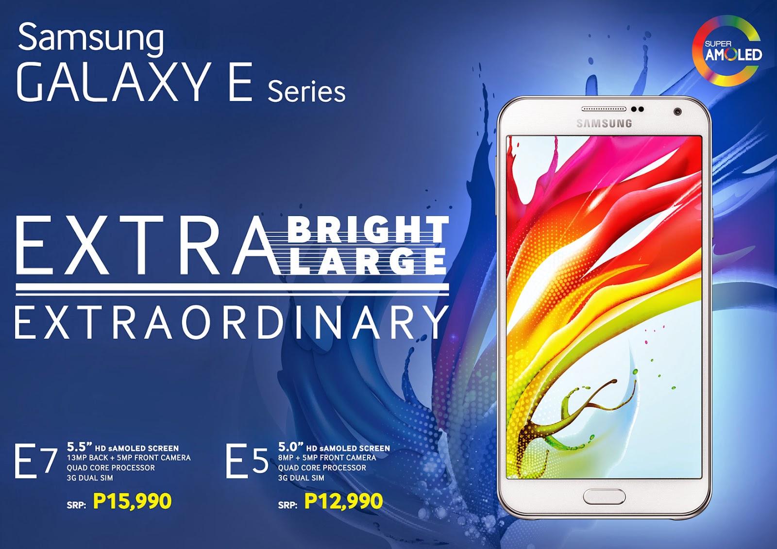 Samsung Galaxy E Series Promo
