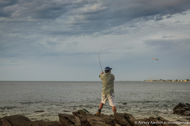 Fishing is a very popular activity at Marino Rocks
