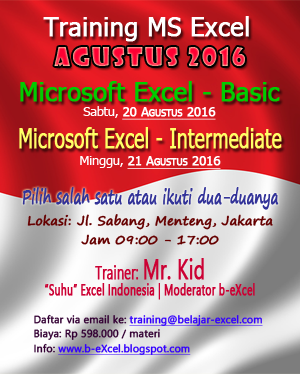 Info Training MS Excel