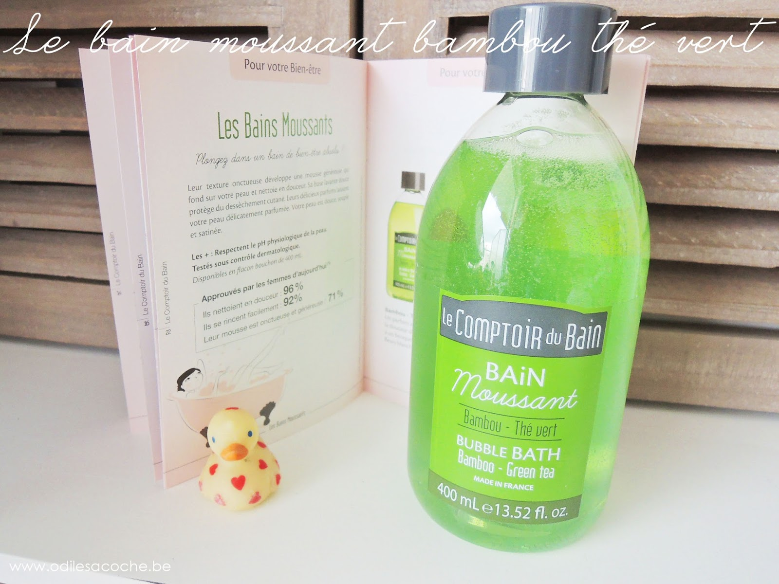 bain moussant bamboo green tea