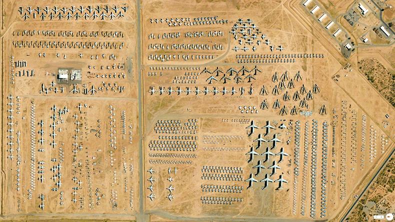 Foto mozzafiato: USA: Tucson, Arizona - 309° Centro di Rigenerazione e Manutenzione Aerospaziale