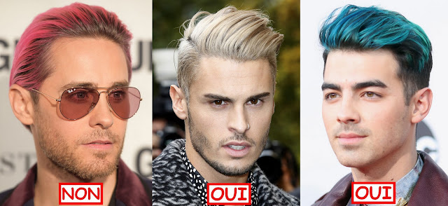 jared leto baptiste giabiconi joe jonas blond bleu haircut