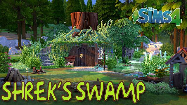Sims 4 Shrek's Swamp House