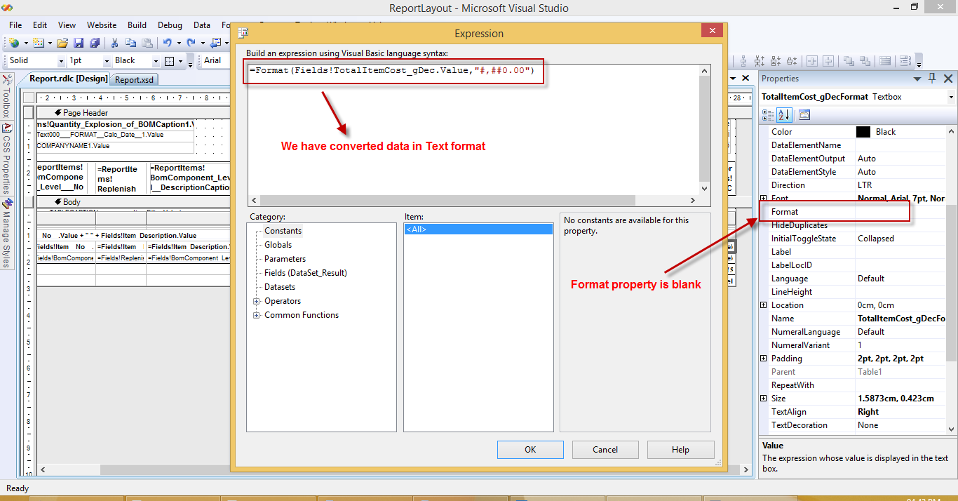 Nilesh gajjar microsoft dynamics nav format issue in for Rdlc template