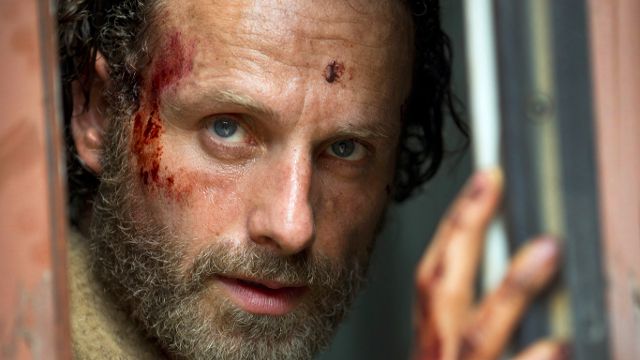 Rick Grimnes (Andrew Lincoln) en The Walking Dead 5x01