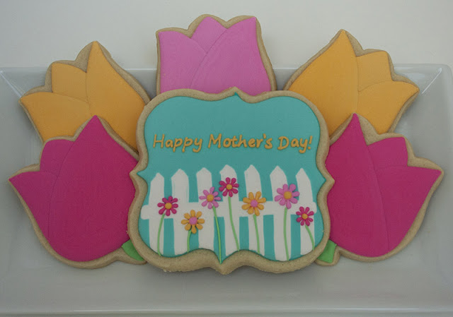 Mothers day tulip cookies