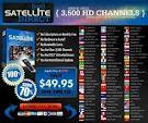 Watch online TV with satellite