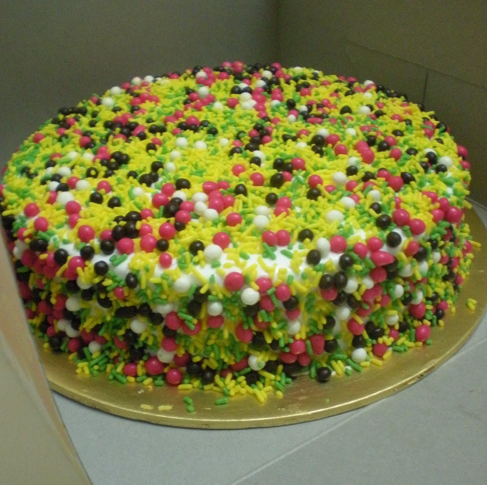 Colourful Fruit Cake: My Cupcake Meals: Colourful Cake For Cik Ros