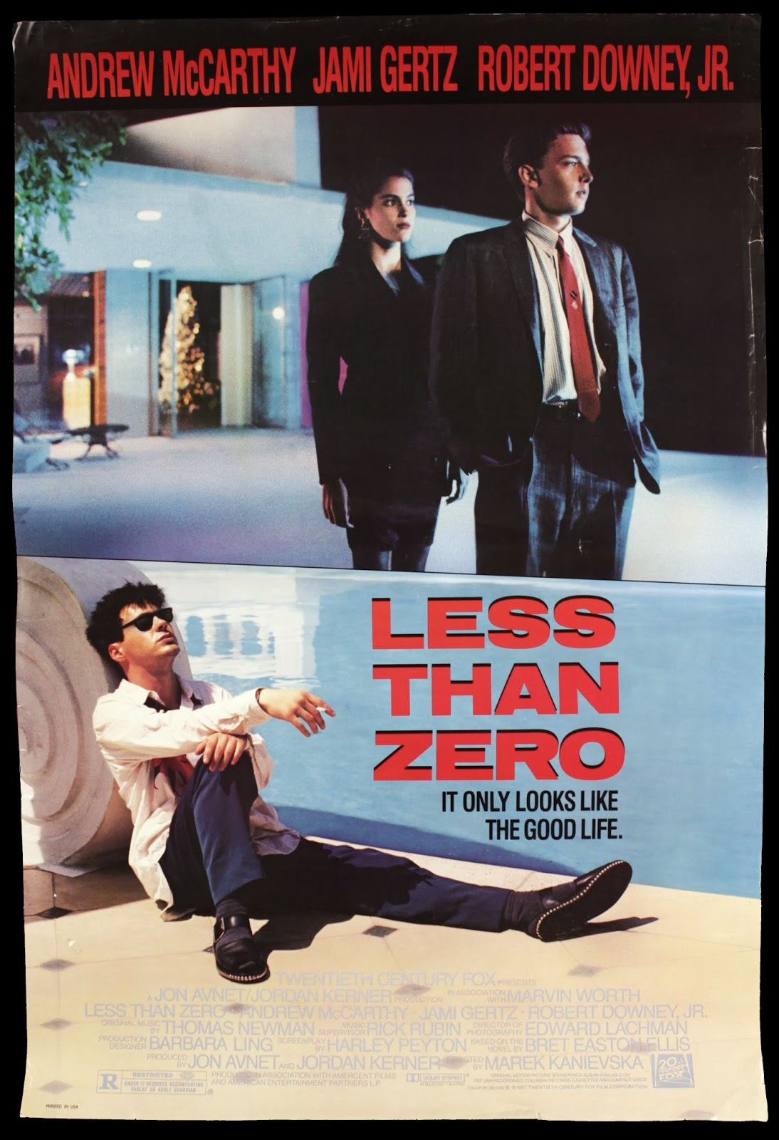 Less Than Zero Robert Downey Jr