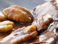 Chocolate Caramel Pecan Souffle Cake