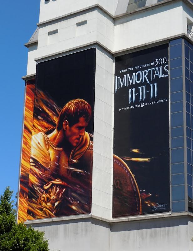 Immortals teaser movie billboard