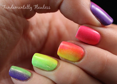 Fundamentally Flawless: Models Own Ice Neon Gradient Nails