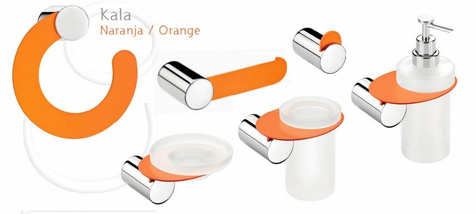 Coleccion kala de accesorios de ba o redondeados for Precios de accesorios de bano