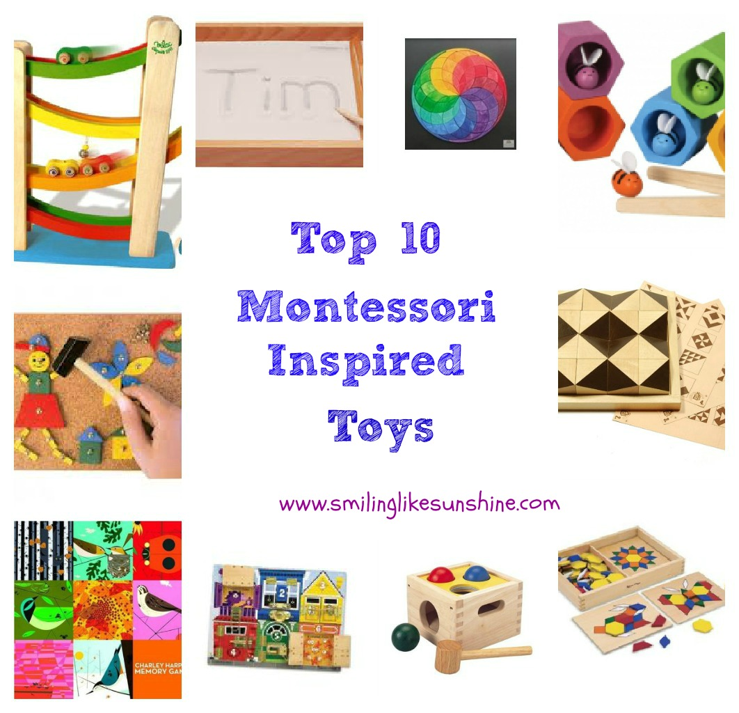 Toys For Three Year Olds : Smiling like sunshine top montessori inspired toys