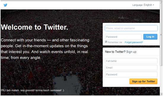 Twitter, website terpoluler