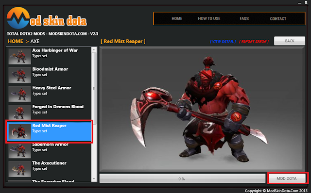 [Mod Dota] Red Mist Reaper