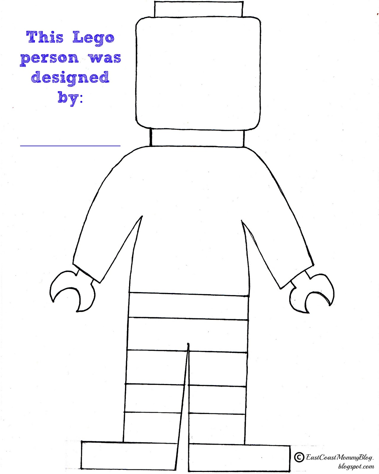 Gallery For gt Printable Lego Man Template
