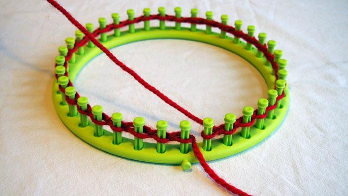 crochet tricotin tricot mod les et tutoriels comment monter les mailles au tricotin g ant. Black Bedroom Furniture Sets. Home Design Ideas