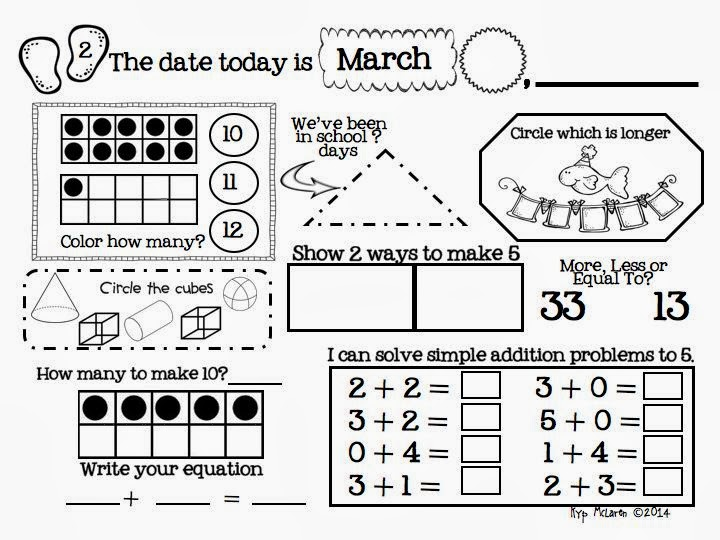 http://www.teacherspayteachers.com/Product/Kindergarten-Daily-Math-March-Common-Core-Aligned-1139956