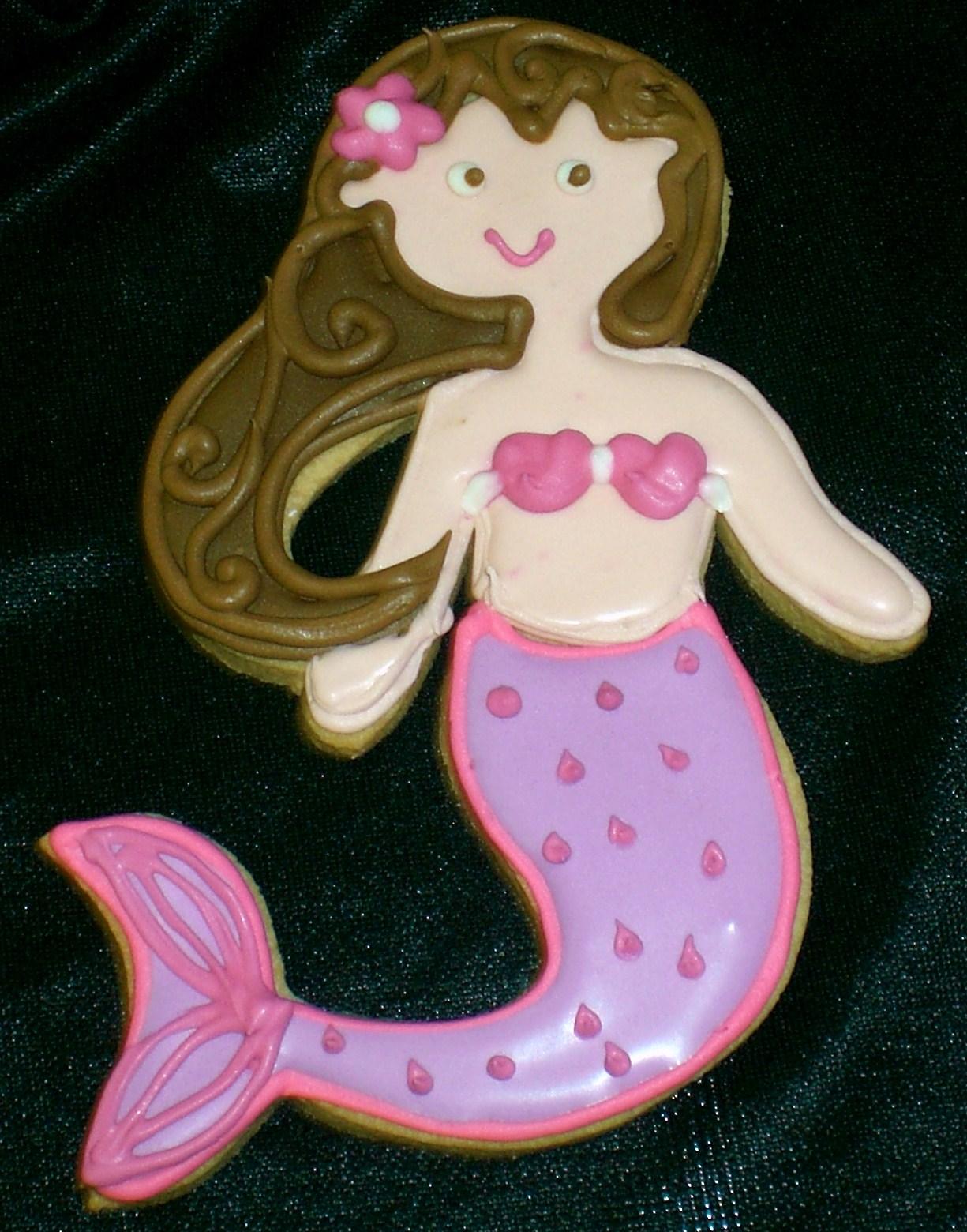 The Crimson Cake Blog Mermaid Cookies
