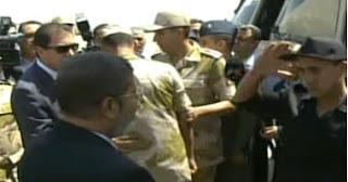 الرئيس محمد مرسى يشكر السيسى والفريق صدقى على تحرير الجنود