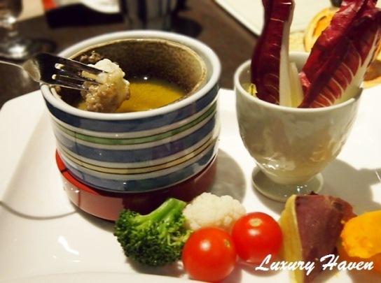 nadaman shiodome anchovy garlic fondue