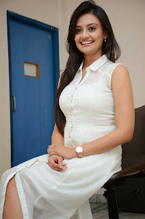 Actress Nikitha Narayan Picture Gallery in White Dress at Ladies and Gentleman Movie Press Meet 32.JPG