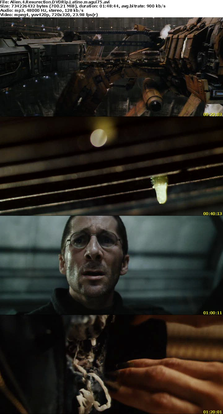 Resultado de imagen para Alien 4: La Resurreccion (1997) captura