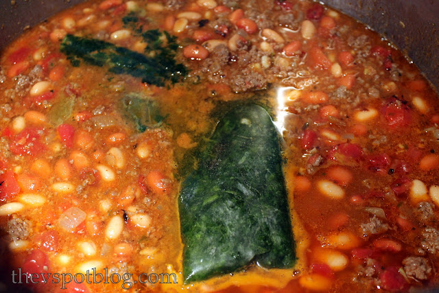 recipe, cilantro, frozen herbs, beans, simmer, venison chili
