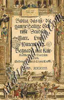Luther's German Bible, In 1521, after his abduction hi the Elector of Saxony, Luther was installed in the castle of Wartburg. There he stayed until March 1522. It was an intensely active period, taken up with a series of pamphlets and correspondence with friends and supporters. It also saw the translation of the Greek New Testament into vernacular German. The first edition was published in 1522.