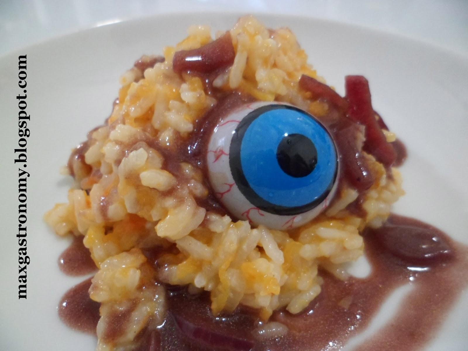 comidas de halloween 10 receitas de arrepiar : Halloween - Risoto de Ab?bora com Redu??o de Vinho Tinto ...