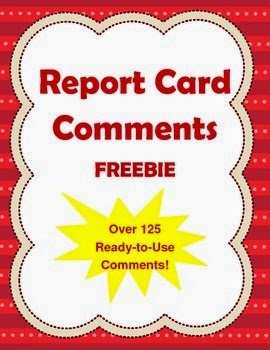 http://www.teacherspayteachers.com/Product/Over-125-Report-Card-Comments-FREEBIE-1047853
