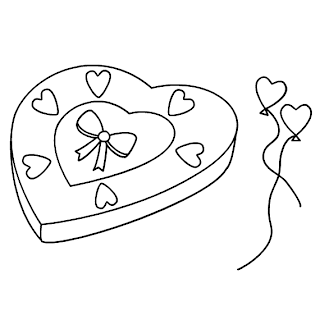 Desenhos Preto e Branco caixinha para presente    Colorir