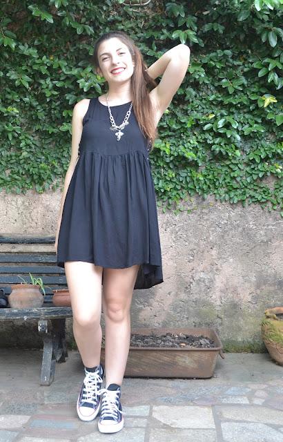 outfit, fashion blogger, argentina, black dress, leather jacket