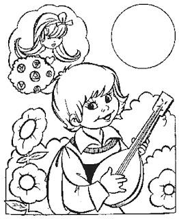Niño tocando una guitarra