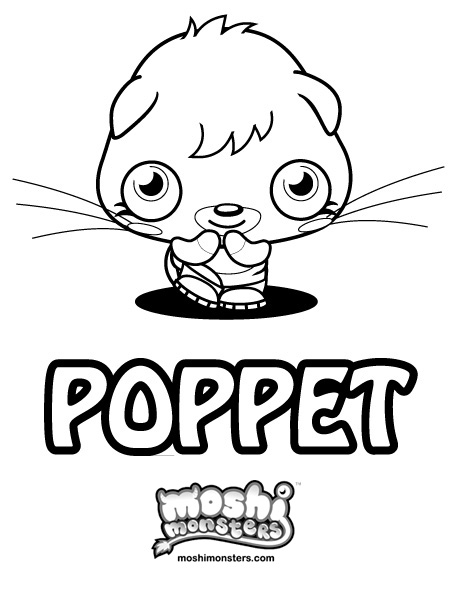 Moshi Monsters Coloring Pages - Katsuma - Poppet