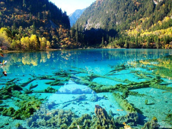 Os lugares mais bonitos do mundo resumo da net lago azul turquesa cristalino vale do jiuzhaigou china altavistaventures Images
