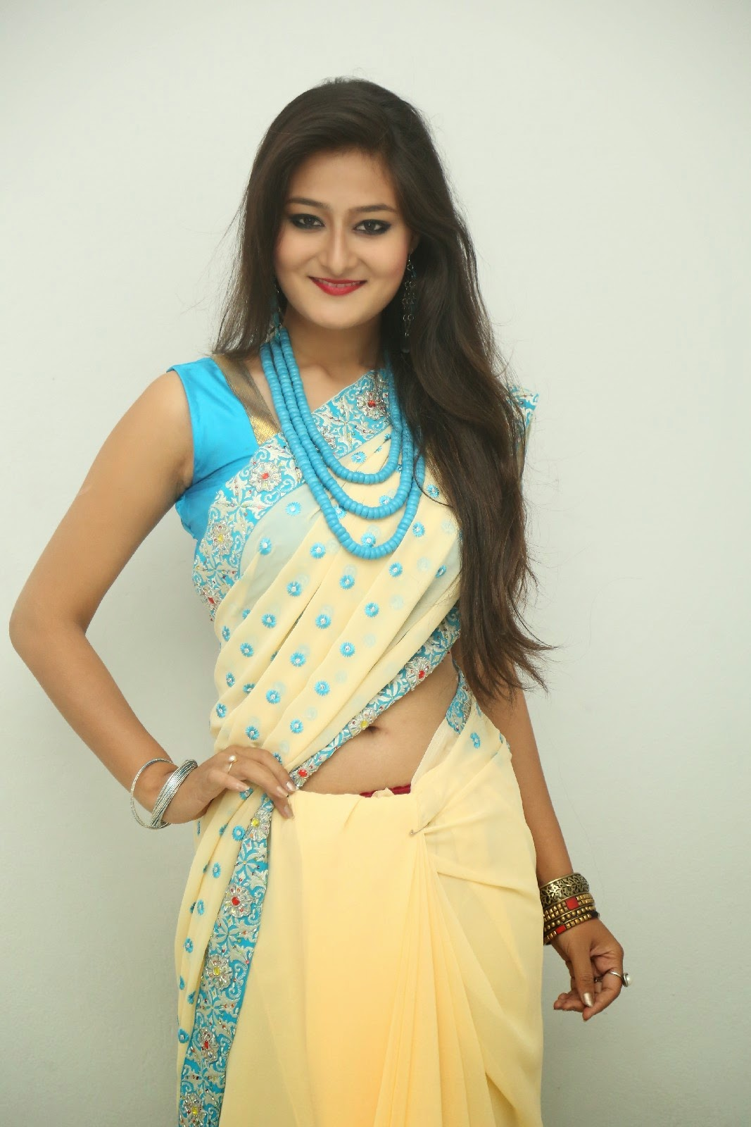 Nilofer sizzling saree photos-HQ-Photo-2