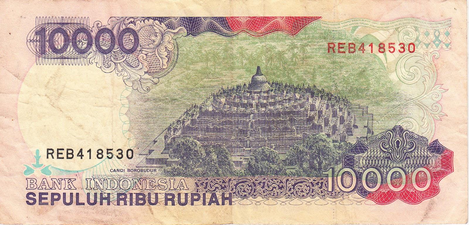 untuk Uang Kertas Kuno Indonesia Rp. 10.000 (sepuluh ribu rupiah