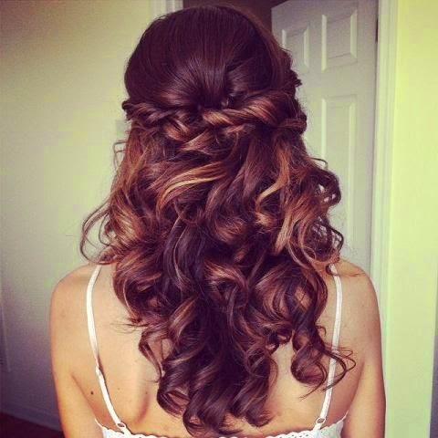 Half twist hair style