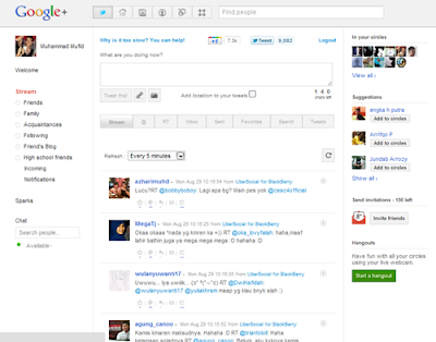 Twitteran Di Dashboard Akun Google Plus | Khamardos Blog