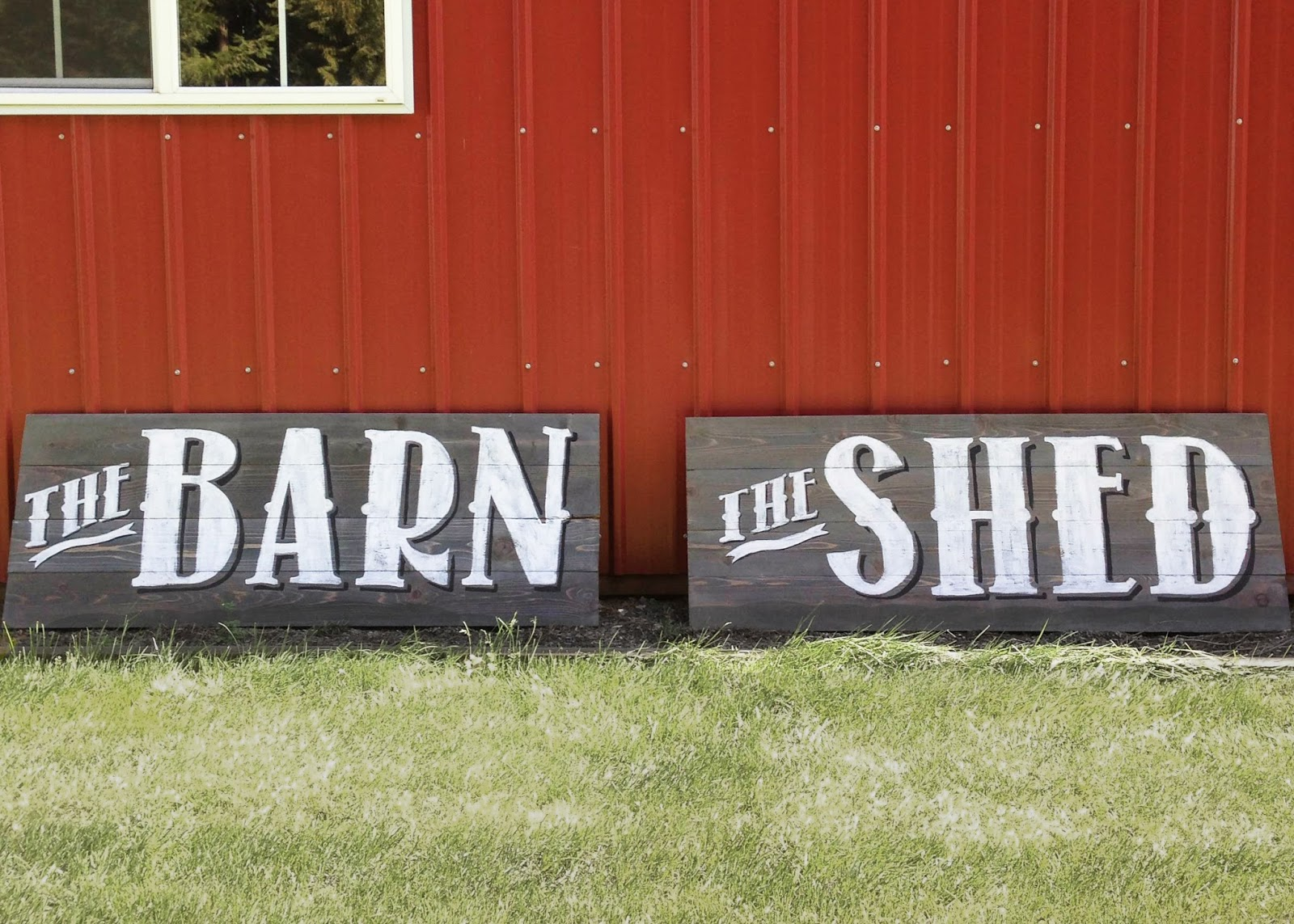 custom made signs with vintage lettering on wood