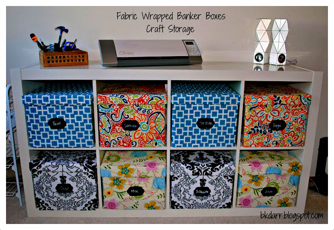 how to fabric bankers boxes