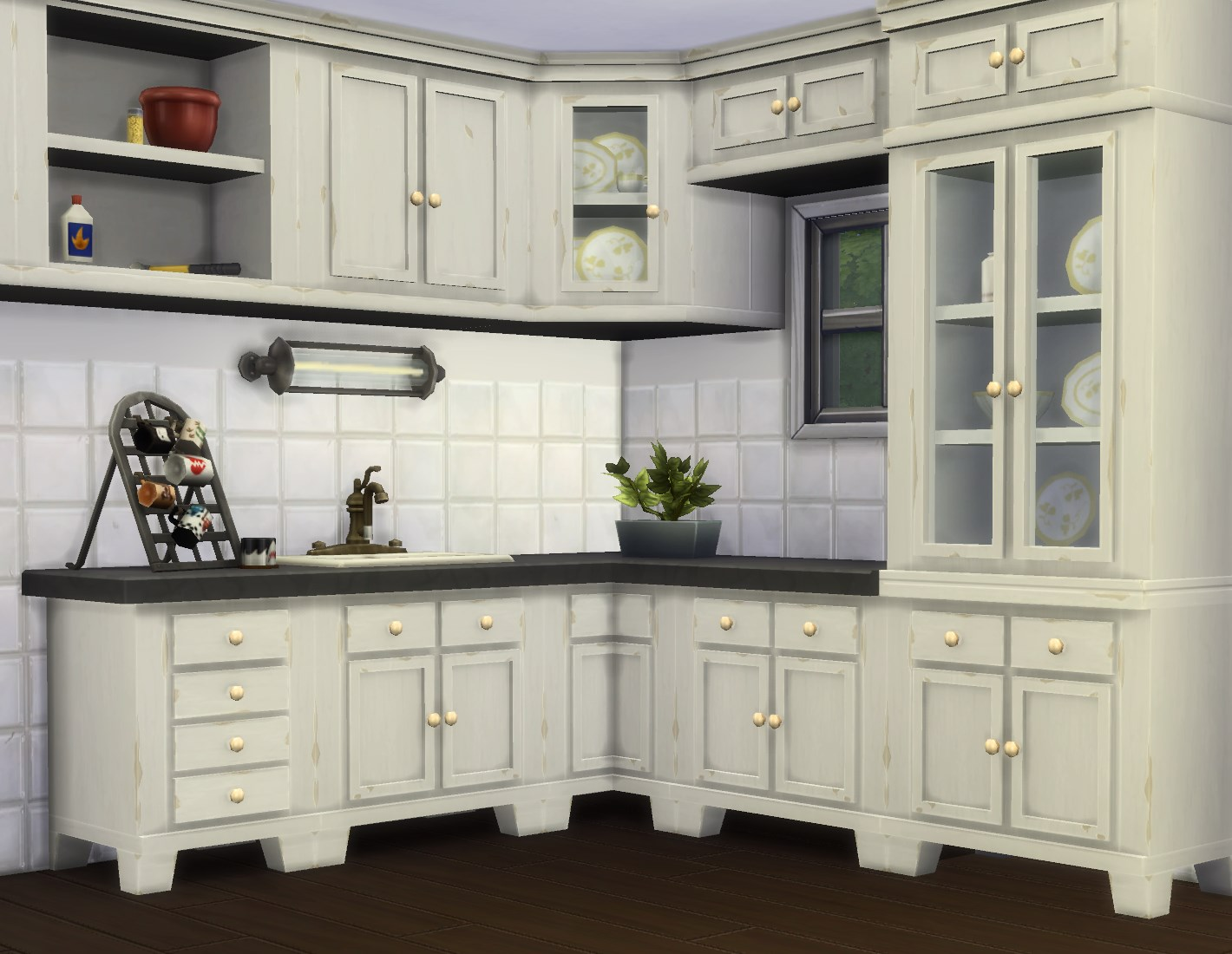 My sims 4 blog country kitchen and cupboard by plasticbox for Cc kitchen cabinets