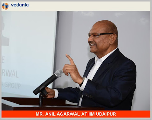MR. ANIL AGARWAL AT IIM UDAIPUR
