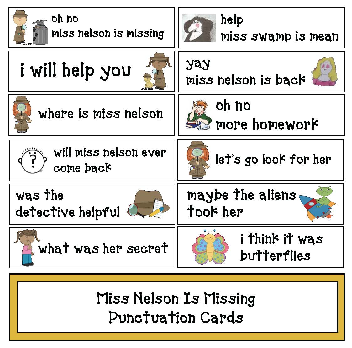 Classroom Freebies Miss Nelson Is Missing Activities – Miss Nelson is Missing Worksheets