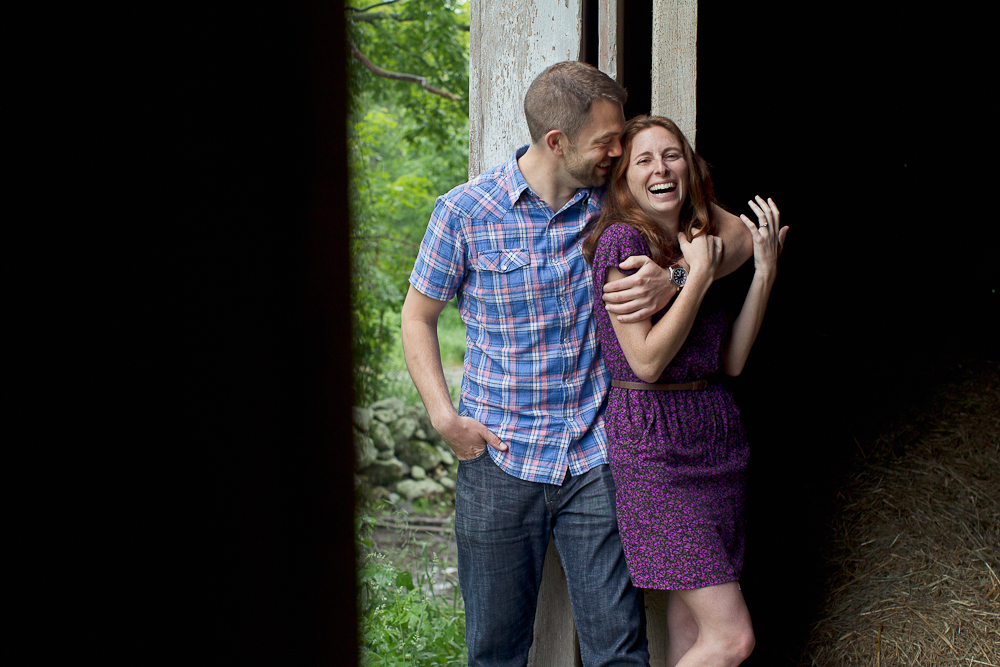Barn Engagement Jaffrey NH
